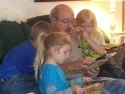 Danny enjoys reading to the grandchildren